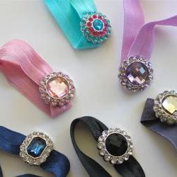 Rhinestone Hair Tie:  Choose One